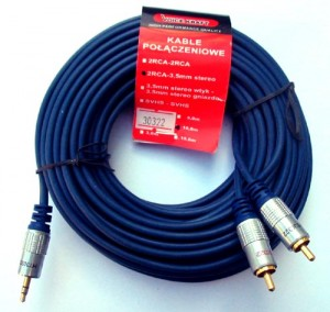 Kabel Voice Kraft 2 RCA - wtyk 3,5mm stereo (1,8m-10m)