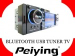 Radio Peiying Alien PY9128T 4x45 TV/MP3/MP4/DIVIX/USB/SDHC/DVD + bluetooth